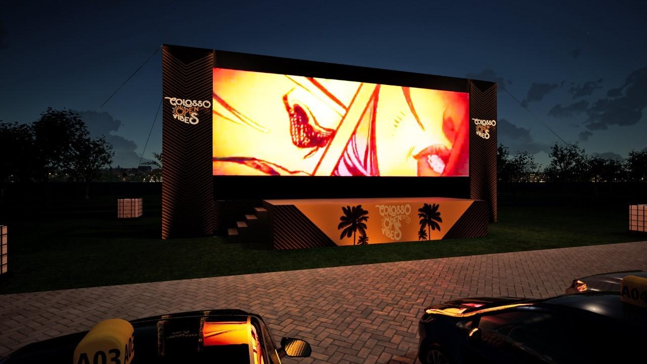 Cinema, shows infantis e aulões fitness: confira programação e valores de novo drive-in em Fortaleza