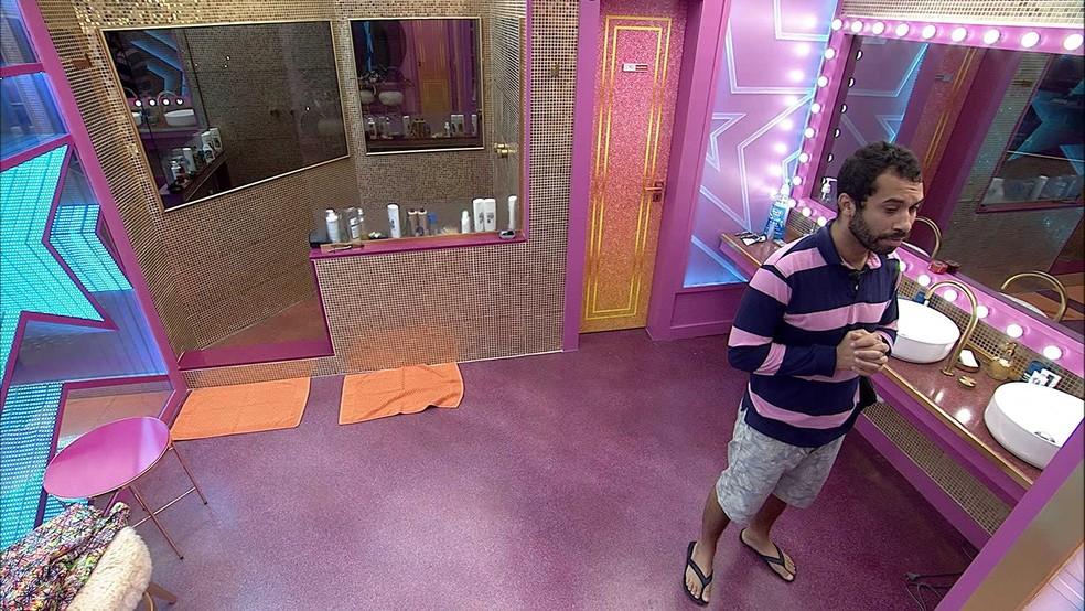 Gilberto arruma as malas no BBB21 e afirma: 'Fui um dos protagonistas' — Foto: Globo