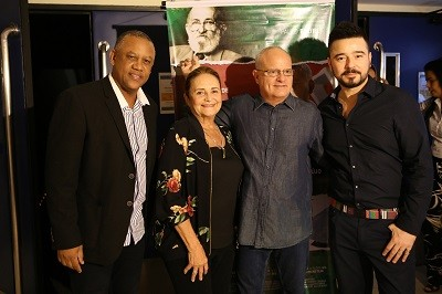 Celso Athayde, Lucinha Araújo, Luis Erlanger e Carlos Tufvesson