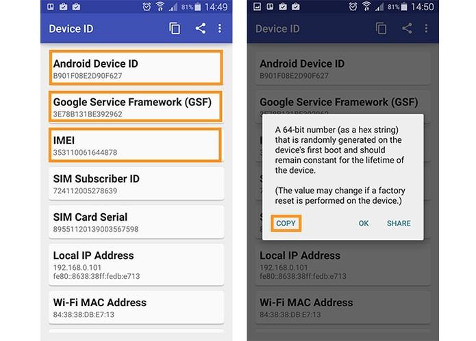 Acesse as informações do Android com o Devide ID (Foto: Reprodução/Barbara Mannara)