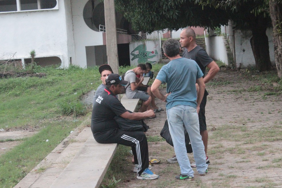 Treino Flamengo-PI  (Foto: Arthur Ribeiro/GloboEsporte.com)