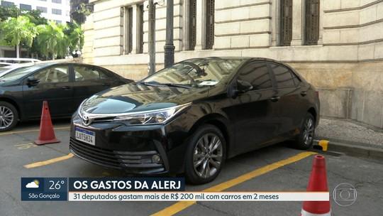 Deputados do RJ gastam R$ 212 mil com carros em dois meses