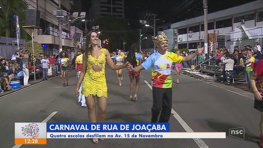 Quatro escolas de samba desfilam no sábado em Joaçaba