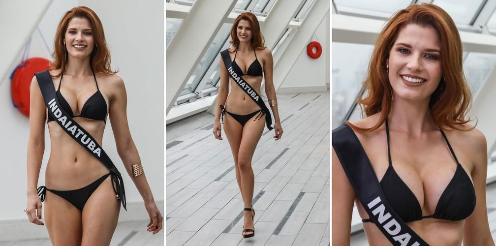 A Miss Indaiatuba, Michelle Cristine Semente Valle, de 24 anos, candidata a Miss São Paulo 2018 (Foto: Fábio Tito/G1)