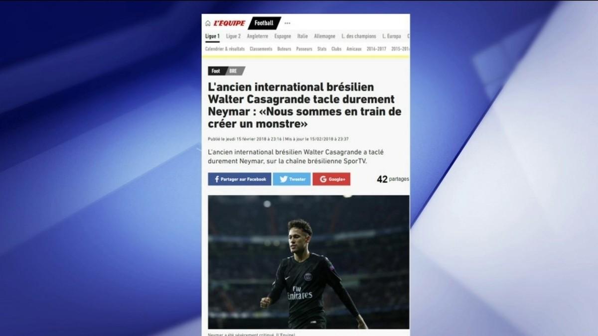 03da9d93ce Comentaristas criticam resposta do pai de Neymar após opinião de Casagrande