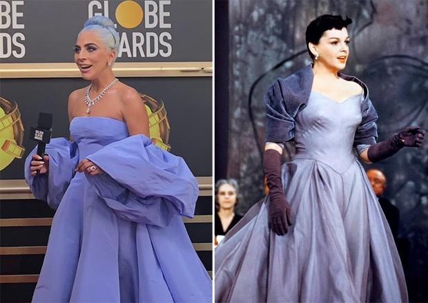 Lady Gaga e Judy Garland (Foto: Reprodução/Twitter)