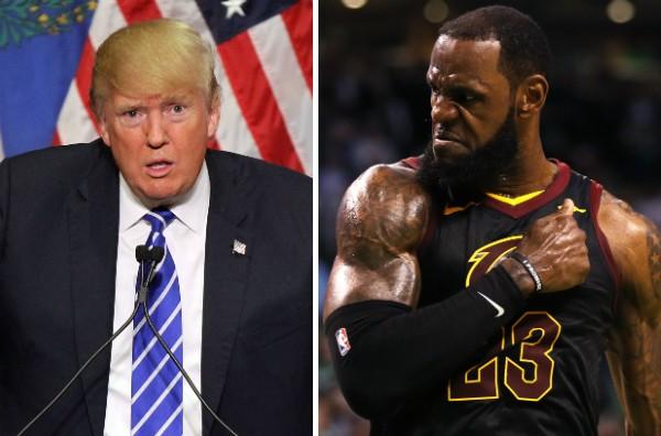 O presidente dos EUA, Donald Trump, e o jogador de basquete LeBron James (Foto: Getty Images)