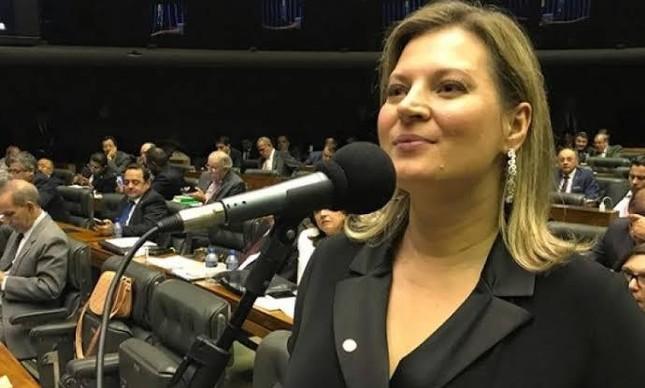 A deputada federal Joice Hasselmann (PSL-SP) no plenário da Câmara