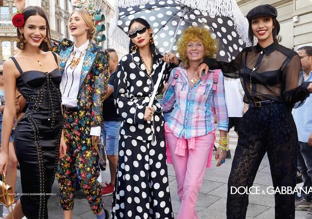 Bruna Marquezine na campanha da Dolce & Gabbana (Foto: Divulgação)