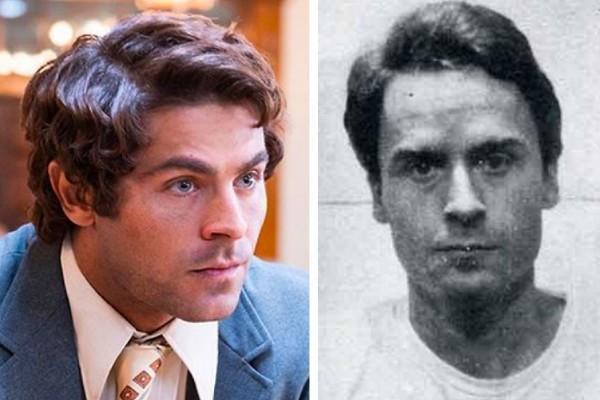 O ator Zac Efron e o assassino serial Ted Bundy (Foto: Instagram/Divulgação)