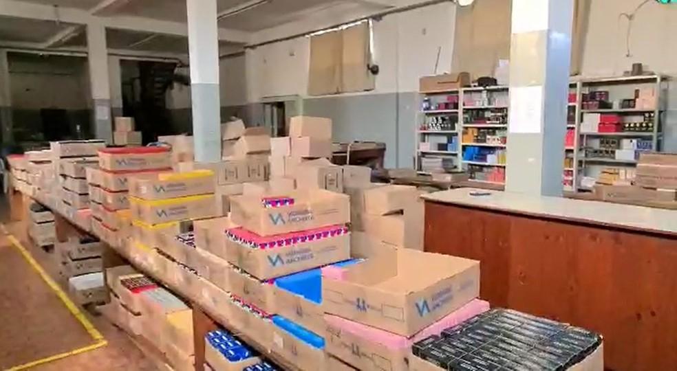 Polícia Civil descobriu fábrica de perfumes falsificados em Limeira — Foto: Wagner Morente/Guarda Municipal de Limeira
