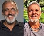 Rogério Gomes e Marcello Novaes | Globo e reprodução