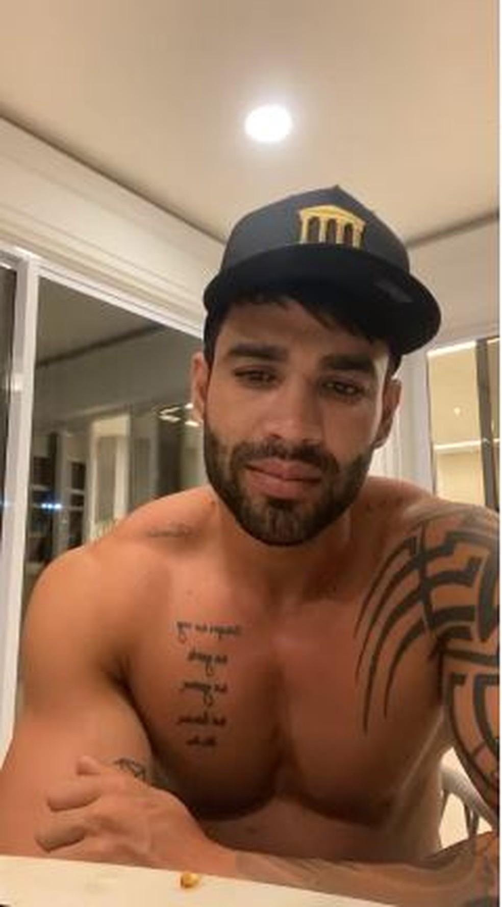 Gusttavo Lima conversou com os seguidores nesta quarta-feira, 16/12 — Foto: Reprodução/Instagram