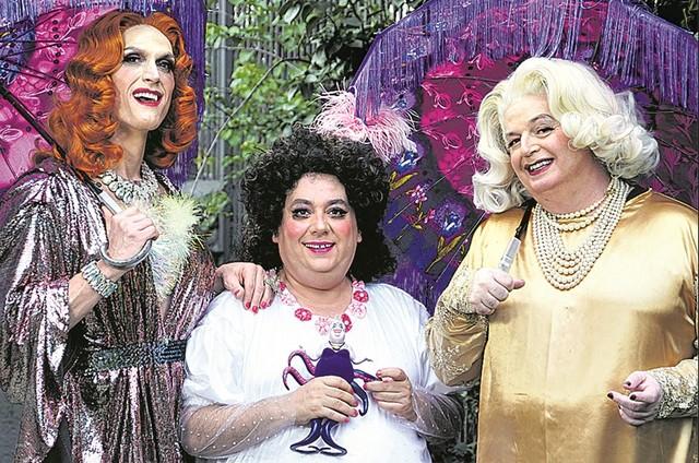 André Segatti, Chico Terrah e Marcelo Mansfield prontos para 'Malvadas, tudo sobre Sharon, Sheila & Shirley' (Foto: Michel Ângelo)