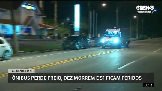 Acidente com ônibus deixa mortos e feridos em rodovia de SP
