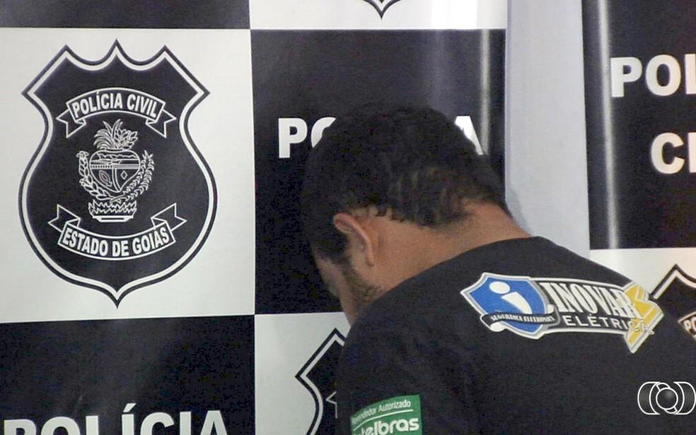 Deyvid foi preso e responderá por homicídio e feminicídio (Foto:  TV Anhanguera)