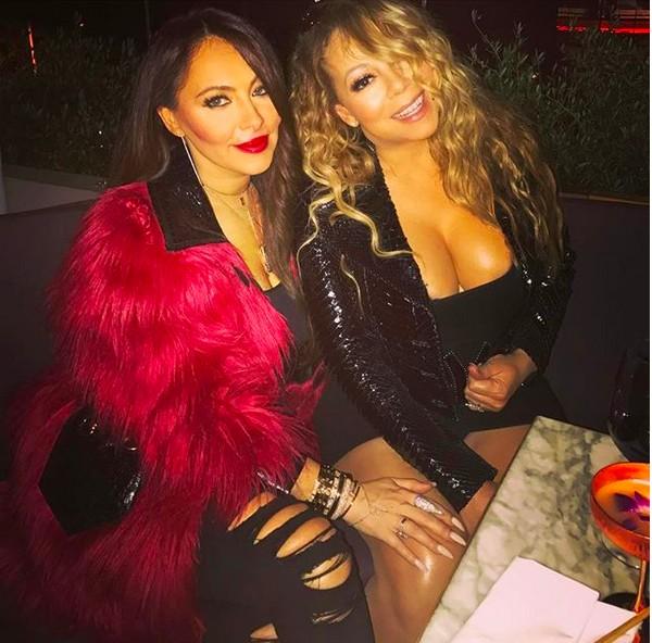 A cantora Mariah Carey com a ex-empresária Stella Bulochnikov Stolper (Foto: Instagram)