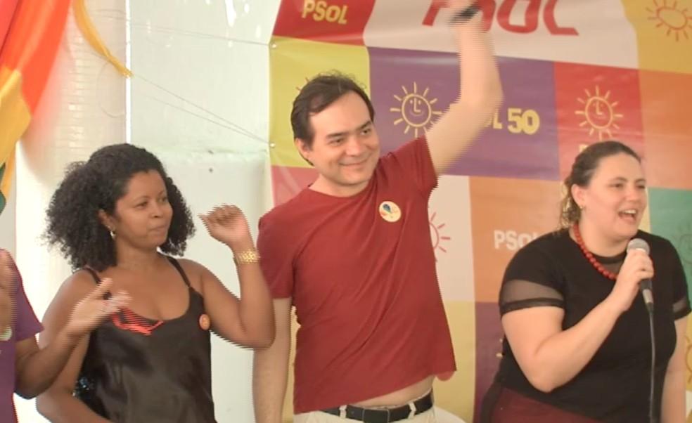 Aílton Lopes é candidato ao Governo do Ceará pelo Psol (Foto: TV Verdes Mares/Reprodução)