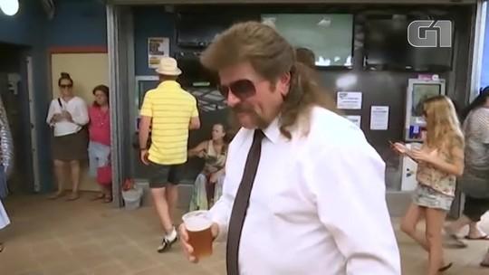 Australianos realizam festival de penteados mullet