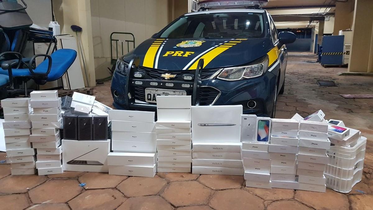 Casal é flagrado em MS com quase 200 celulares sem documentação que seriam levados para Brasília