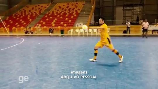 Falcão mostra pontaria em treino do Sorocaba e acerta bola na lixeira; vídeo