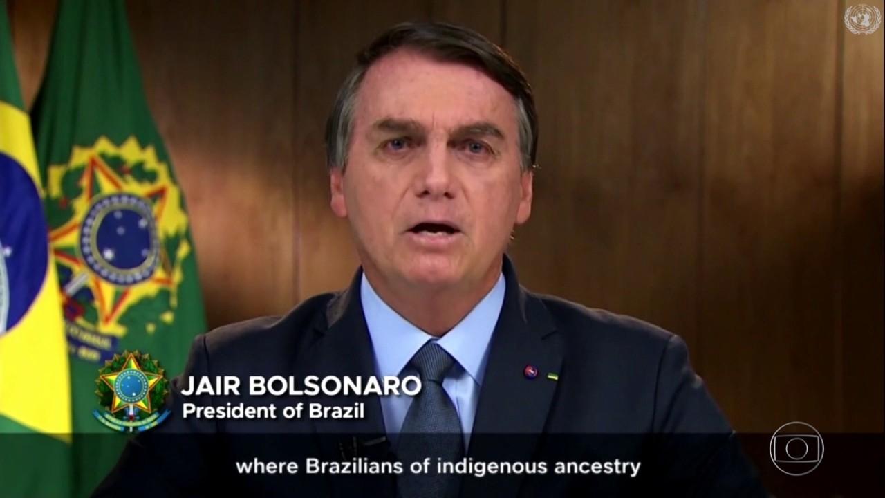 Em discurso na ONU, Bolsonaro diz que o Brasil é alvo de campanha de 'desinformação'