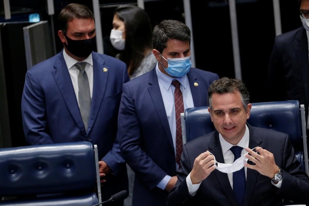 Rodrigo Pacheco foi eleito novo presidente do Senado — Foto: Adriano Machado/Reuters