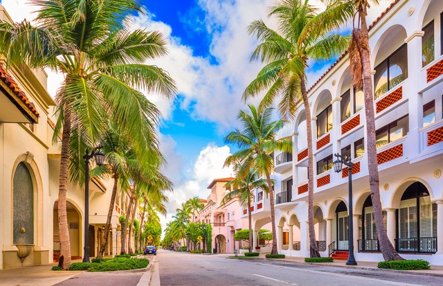 Palm Beach, Florida, USA at Worth Ave. (Foto: Getty Images/iStockphoto)