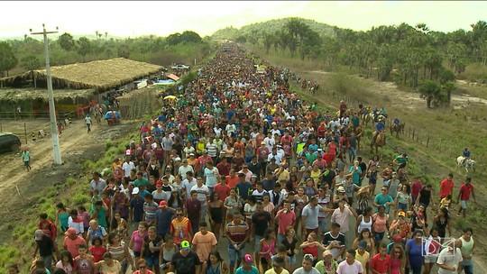 Milhares de devotos seguiram em romaria pra celebrar São Raimundo Nonato dos Mulundus