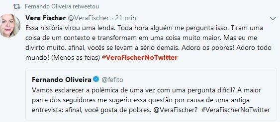Vera Fischer brinca nas redes (Foto: reprodução)