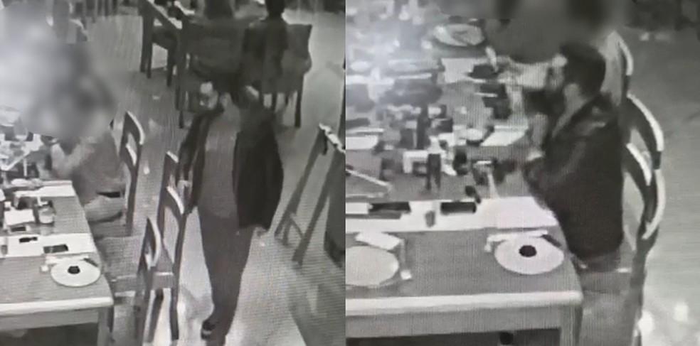 Câmera de segurança mostra motorista em bar antes de acidente em Assis — Foto: Câmera de segurança/Reprodução