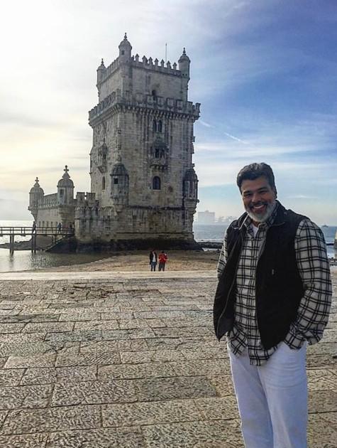 Maurício Mattar em Portugal (Foto: Arquivo pessoal)