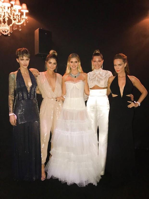 Ruby Rose, Thassia Naves, Lala Rudge, Helena Bordon e Mariana Ximenes (Foto: Divulgação)