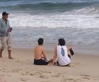 Carol Duarte e Gabriel Stauffer gravam cenas de 'A força do querer' | Reprodução