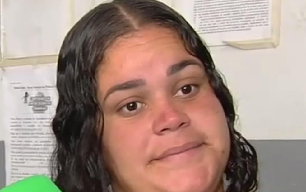 Bruna de Fátima Brusda é suspeita de aplicar golpes em Goiânia (Foto: TV Anhanguera/Reprodução)