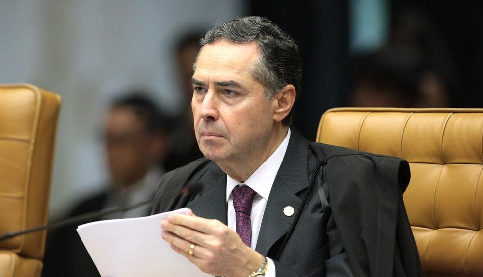 O ministro Luís Roberto Barroso durante sessão no STF (Foto: Carlos Moura/SCO/STF)