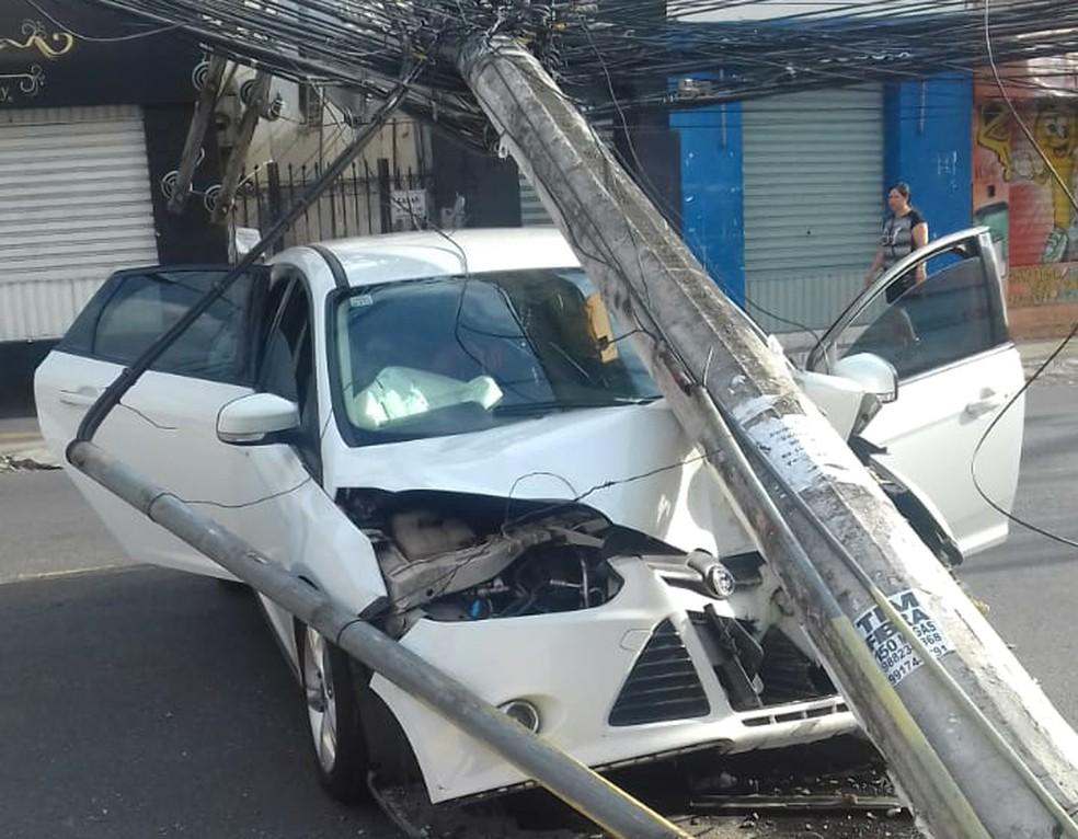 Apesar da força do impacto, ninguém saiu ferido do acidente — Foto: Daniel Bahia/Arquivo Pessoal