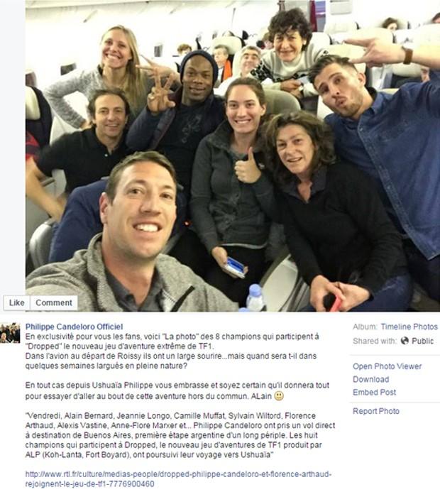 """Candeloro postou foto dos atletas de """"Dropped"""" em rede social (Foto: Reprodução/Facebook/Philippe Candeloro Officiel)"""