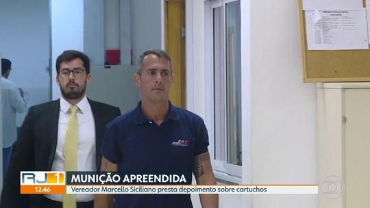Vereador Marcello Siciliano, do PHS, presta depoimento sobre munição achada na casa dele