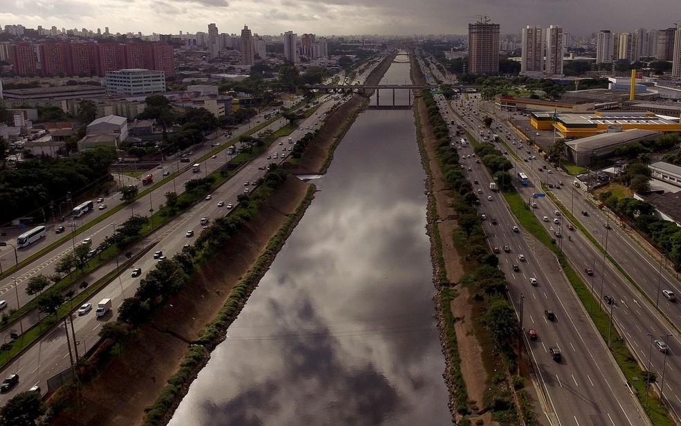 Marginal Tietê na altura da Ponte do Limão, na Zona Norte de SP (Foto: Luis Moura/WPP/Estadão Conteúdo)
