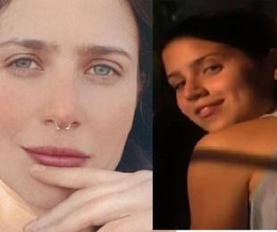 Mel Lisboa na fase atual e, à direita, como a protagonista de 'Presença de Anita'   Reprodução/Instagram e TV Globo