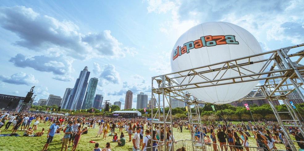 Foto da edição deste ano do festival Lollapalooza, em Chicago (Foto: Divulgação/Roger Ho)