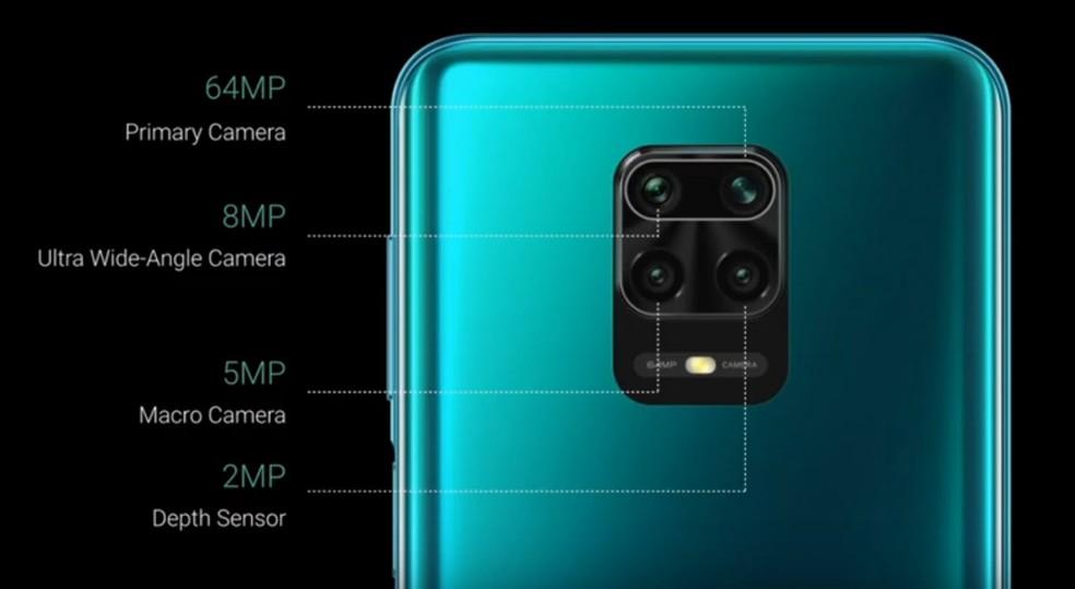 A câmera principal do Note 9 Pro Max tem 64 MP e a frontal conta com 32 MP — Foto: Divulgação/Xiaomi