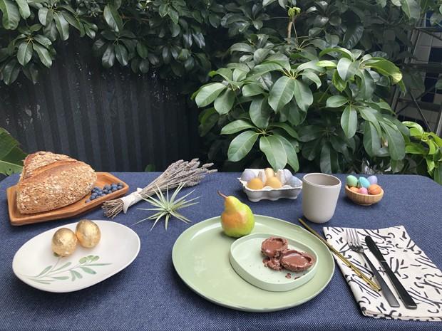 Decoração de Páscoa: mesa de café da manhã sustentável