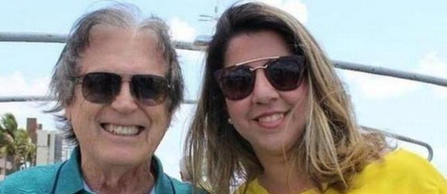 Luciano Bivar e a candidata Mariana Nunes
