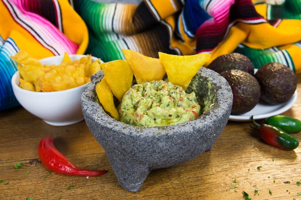 Guacamole é prato tradicional mexicano à base de abacate — Foto: Divulgação/Abacates do Brasil