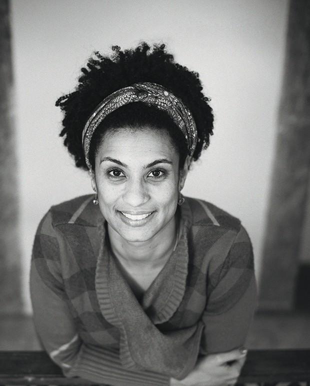 Marielle Franco, a vereadora assassinada com quatro tiros no mês passado, que virou emblema da guerra no Rio (Foto: Reinaldo Canato /  Lucas Landau / Produção-executiva Vandeca Zimmermann )