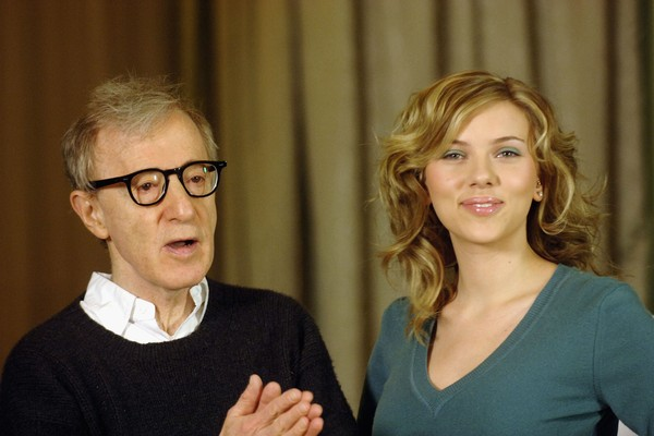Director Woody Allen and actress Scarlett Johansson, during an outreach event for Match Point (2005), on Italy (picture: Getty Images)