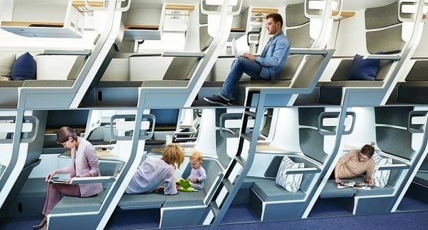 De cabine duplex a beliche: as curiosas ideias para as viagens de avião no futuro