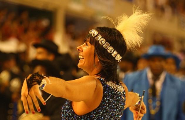 Adriane Galisteu, para a Unidos da Tijuca (2010) (Foto: Arquivo O Globo)